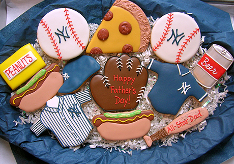 Baseball Cookies Arrangement